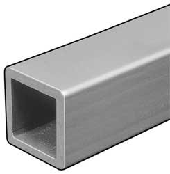 Sq Tube, ISOFR, Gry, 1/4 T x3 In OD Sq, 5 Ft