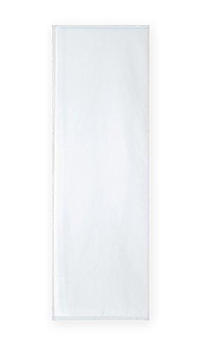 Voile uni Schiebegardine transparent ca. 60x245 cm Flächenvorhang Vorhang Gardine #1522 (weiss)