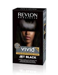 Revlon Realistic Vivid Colour Protein Infused Permanent Color Hair Dye with Color Lock Technology, Jet Black 110ml