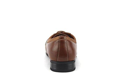 Ferro Aldo Mens 19107al Classico Cap Toe Lace Up Oxford Scarpe Da Sera Marrone