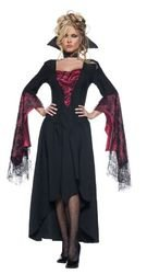 Underwraps Women's The Countess, Black/Red, Medium (Female Dracula Costume)