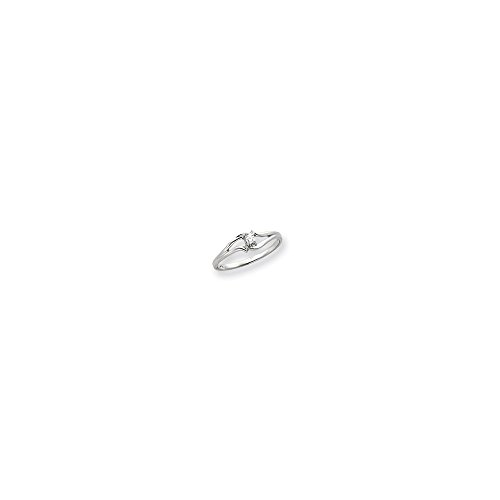 Jewelry Adviser Rings 14k White Gold Ring Mounting 14k Ring Mounting