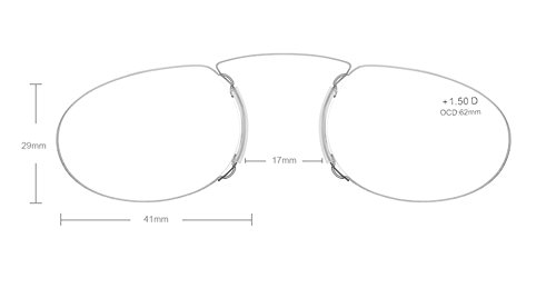 d45592372bbb Pince Nez Style Clamp Nose Resting Pinching Reading Glasses FJB01 (BLACK