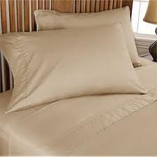 Queen Sleeper Sofa Bed Sheet Set , Color Taupe Solid , 100 Percent Egyptian  Cotton 800 Thread Count