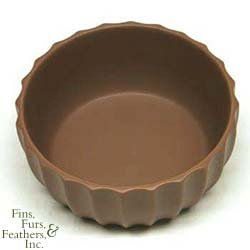 VO FLUTED CERAMIC BOWL 7 CHOC