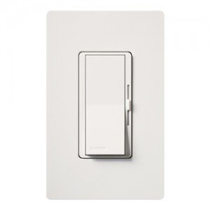 Lutron DVWFSQ-FH-WH Fan Speed Control Diva Satin Colors 1.5A 3-Way w/ Wall Plate - White-2PK