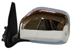 TYC 5290132 Toyota Tacoma Driver Side Power Non-Heated Replacement Mirror, Smooth Chrome ()