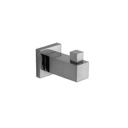 Newport Brass 19-12/15A Cube 2 Single Robe Hook, Antique Nickel (Pewter)