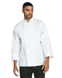 Dickies Chef Classic 8 Button Coat, White, X-Large