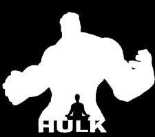 LLI Hulk Double Silhouette | Decal Vinyl Sticker | Cars Trucks Vans Walls Laptop | White |5.5 x 4.4 in | -