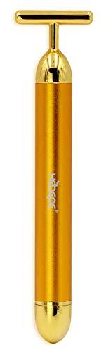 Beauty Bar 24k Golden Pulse Facial Massager, T Shape Gold Stick, Face Lift, Anti-Wrinkle, Skincare Wrinkle Treatment, Face Firming,Facial Roller Massager,Eliminate Dark Circles (Regular) (Sculpture Body Massager)