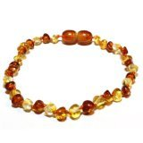 "The Art of CureTM Baltic Amber Baby Teething Bracelet- Honey 1×1 W/""the Art of Cure"" Jewelry Pouch-TM, Baby & Kids Zone"