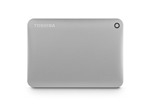 Toshiba Canvio Connect II 2TB Portable Hard Drive, Silver (HDTC820XC3C1)