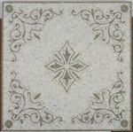 Soho Medallion Diamond Oriental White + Lady Grey 32x32 Square by Soho