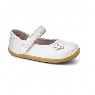 Zapatos blancos Bobux para bebé sq9Frap