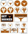 (WinCraft NCAA University of Texas Vinyl Sticker Sheet, 5