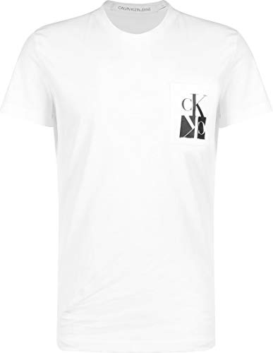 Calvin Klein Men's MIRRORED MONOGRAM PKT SLIM TEE S/S T-Shirt