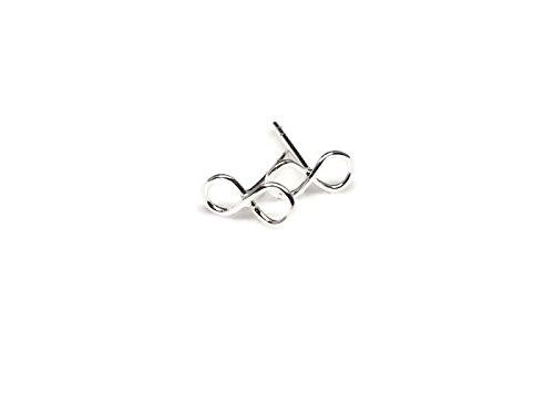 Dolphin Design Door Knocker (Sterling silver infinity stud)