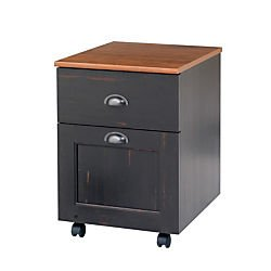 Realspace(R) Shore Mini Solutions Rolling Pedestal File, 22 1/4in.H x 15 1/2in.W x 19 1/2in.D, Antique Black