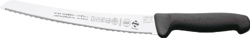 Curved Serrated Bread Knife - Mundial 5821-10 10-Inch Micro-Serrated Edge Curved Bread Knife, Black