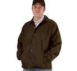 Lined Nylon Coachs Jacket (Men's Lined Coaches Jacket (Large,)