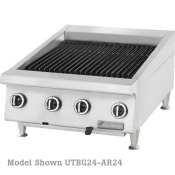 Garland UTBG60-NR60 Heavy Duty 60'' Gas Countertop Charbroiler with Cast Iron Radiants & Non-Adjustable Grates