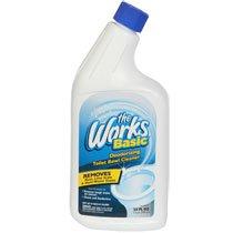 12 Pack - The Works Basic Deodorizing Toilet Bowl Cleaner, 24-oz. Bottles