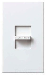 Lutron NLV-1503P Nova 120 Volt 1200 Watt Single Pole/3-Way Large Control Magneti, White