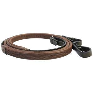 (Suffolk by Dover Saddlery Everyday Rubber Reins - Brown, F/S)