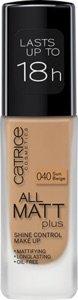 Catrice | Full Coverage Foundation Makeup – All Matt Plus Shine Control | Vegan & Paraben free | 040 Sun Beige