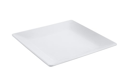 Bon Chef 53400WHITE Melamine Square Platter, White (Pack of 15)
