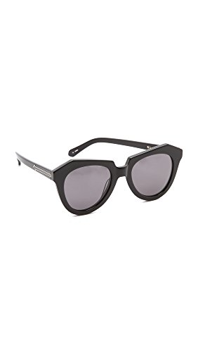 Karen Walker Women's Number One Sunglasses, Black/Smoke Mono, One Size