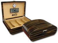 Prestige Import Group Waldorf Cigar Humidor w/ Ebony Lacquer Finish & Polished Hardware