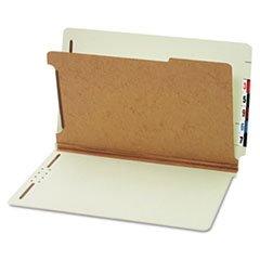 Pressboard End Tab Classification Folders, Four Sections, Legal, Green, 10/box By: Globe-Weis