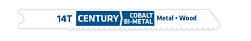 Century Drill and Tool 6214 Universal Shank Cobalt Bi-Metal Jig Saw Blade, 14T ()