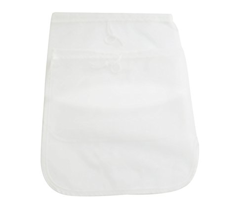 """Bekith Nut Milk Bag - Big 12""""X12"""" Commercial Grade - Reusable Almond Milk Bag & All Purpose Strainer - Fine Mesh Nylon Cheesecloth & Cold Brew Coffee Filter, Set of 2"""
