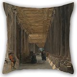 Artistdecor Pillowcase Of Oil Painting James Holland - The Colonnade Of Queen Mary's House, Greenwich 20 X 20 Inches / 50 By 50 Cm,best Fit For Lounge,teens Boys,teens,birthday,monther,bench Twin S