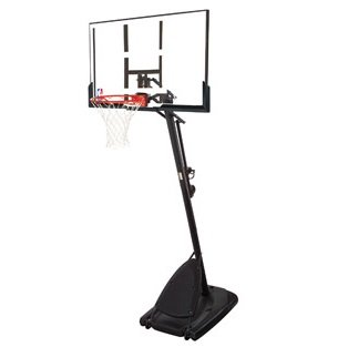 Spalding Pro Slam Portable NBA 54'' Angled Pole Backboard Basketball System (Black) by Spalding