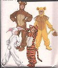 Simplicity Pattern #9808 SIZE: Small A 2-4, 6-8, 10-12 BOYS & GIRLS (Cowardly Lion Costume Pattern)