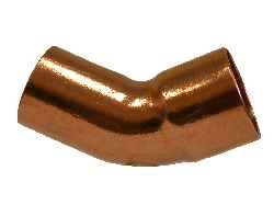 "Midland 77-184 Copper Wrot Solder Joint 45° Street Elbow, Size, Copper, 1-1/2"" Id x 1-1/2"" Id"