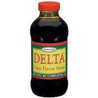 Delta Cane Flavored Syrup 16oz Bottle (Pack of 6)