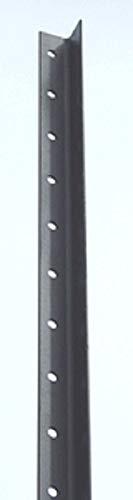 Black Fence Steel - Deer Fence Posts – Angle Steel Black Garden Fence Poles (8 feet (10 Poles))