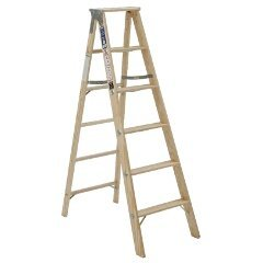 Michigan Ladder 1311-05 250 Pound Duty Rating Type 1 Stocky Wood Stepladder, 5-Foot