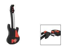 HOTcraze - Memoria USB (8GB), diseño de guitarra eléctrica de MTV, color negro: Amazon.es: Informática