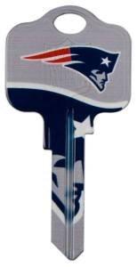 - New England Patriots Kwikset Blank House Keys Kw1 - NFL Licensed