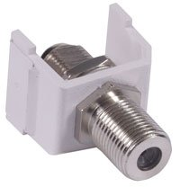 Hubbell Surface Raceway (SFFWX - Hubbell AV Connector, F-Type Coupler Bulkhead F/F, White)