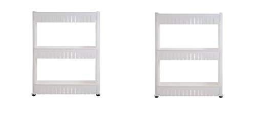 Everyday Home 2 Pack - 3 Tier Slide Out Laundry Cart on Rollers-Only 5'' Wide - Slim Design for Maximum Space Saving, PVC Wheels by Everyday Home (Image #2)