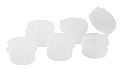 (Zink Color 3 Gram plastic Natural Hinged sampling Jar x 50 pc)