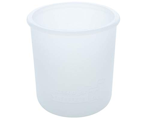 MJL Regular Mouth Half Pint Silicone Sleeve for Mason Jars (Frost, 2 - White Silicone Frost