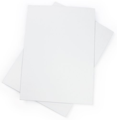 "Displays2go Set of 2 - White Corrugated Coroplast Sign Boards, 22x28"", 3/16"" Thick (CRP2228WHT)"